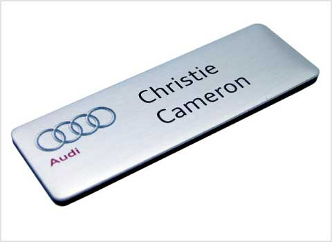 Executive Metal Name Badges, Standard Name Badges